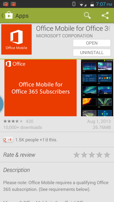 Office 365 for Smart Phones