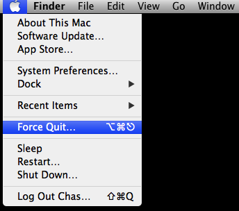 Force Quitting on a Mac